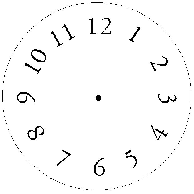 Clock face template with numbers or blank clock face template .