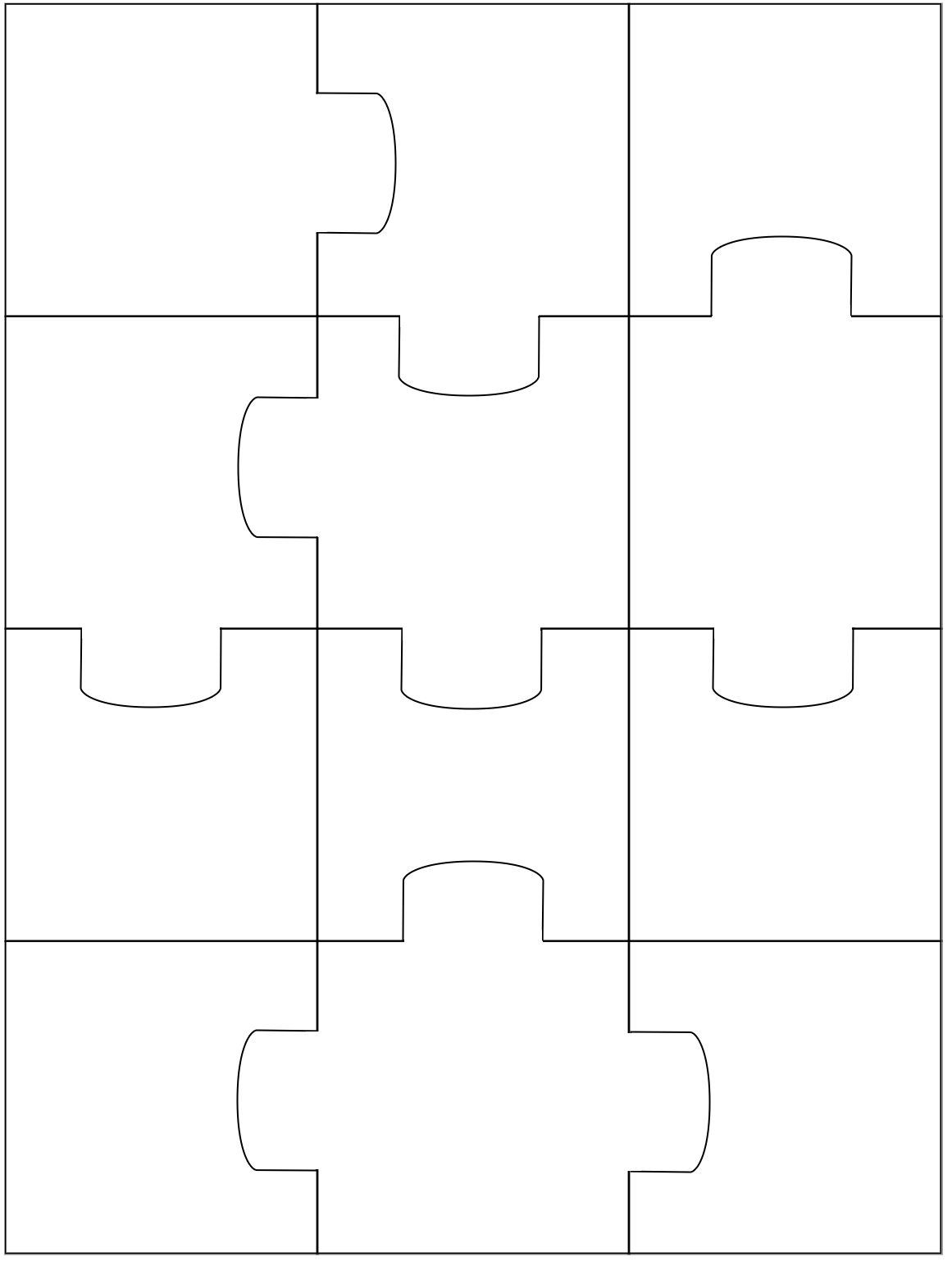 Piece Jigsaw Puzzle Template Using puzzle pieces