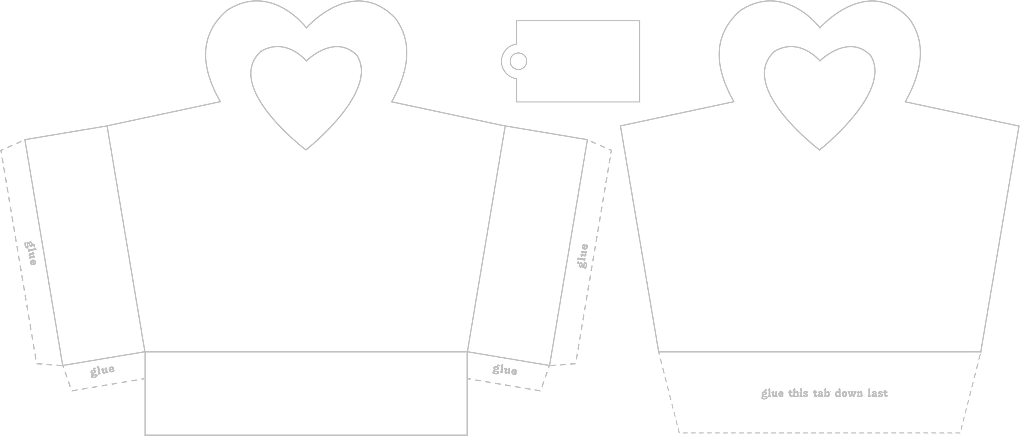 Free Craft Projects Heart Handle Valentine Treat Bag